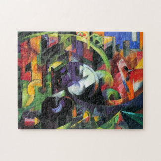 Picture with Cattle by Franz Marc; Bild mit Rinder Jigsaw Puzzles