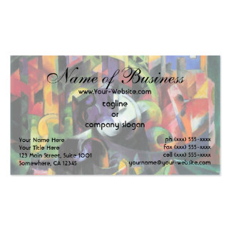 Picture with Cattle Marc; Bild mit Rindern Business Card Template