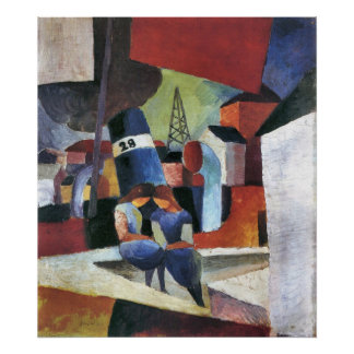 Picture with children on the wall by August Macke Poster