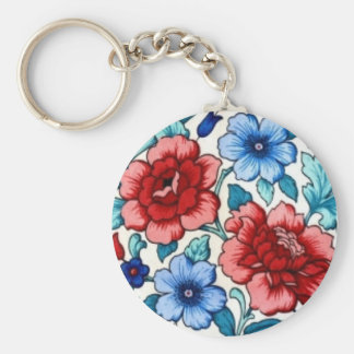 picture with flowers key chain