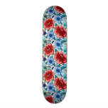 picture with  flowers skateboard deck