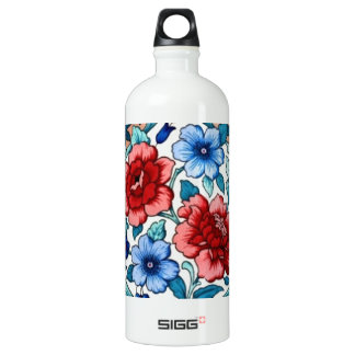 picture with  flowers water bottle