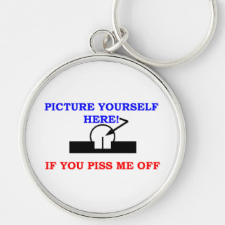 PICTURE YOURSELF Silver-Colored ROUND KEYCHAIN