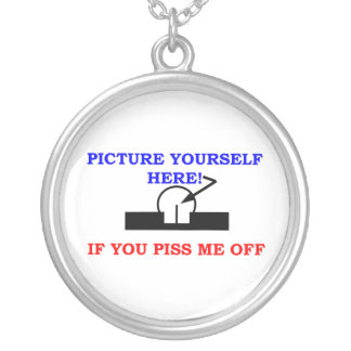 PICTURE YOURSELF SILVER PLATED NECKLACE