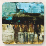 Pictured Rocks National Lakeshore Abstract Beverage Coasters
