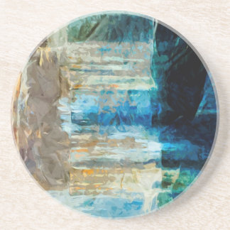 Pictured Rocks National Lakeshore Abstract Sandstone Coaster