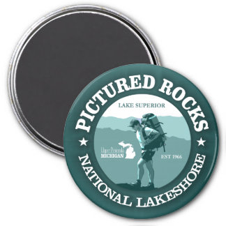 Pictured Rocks NP 3 Inch Round Magnet
