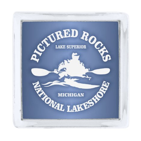 Pictured Rocks (rd) Silver Finish Lapel Pin