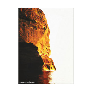 Pictured Rocks Sun Canvas Print