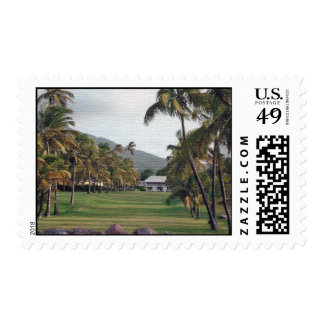 Pictures- family, Nevis, garden 012 Postage Stamp