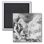 Pictures in the Fire' 2 Inch Square Magnet