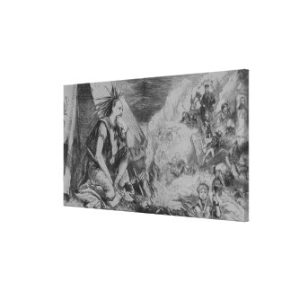 Pictures in the Fire! Canvas Print