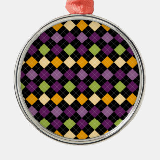 Pictures of blurred colors metal ornament