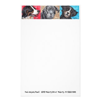 Pictures of Dogs Stationary Stationery