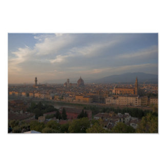 Pictures of Florence Cityscape Poster