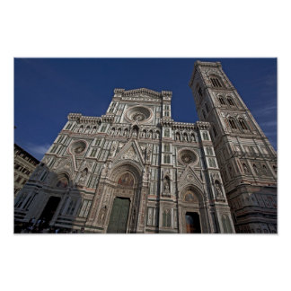 Pictures of Florence Duomo Facade Poster