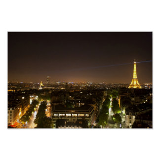 Pictures of Paris Night View Poster
