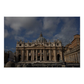 Pictures of Rome St Peter s Facade Posters