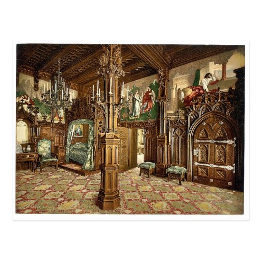 Pictures of Tristan story, bedroom, Neuschwanstein Post Cards