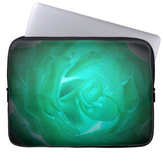 pictures of turquoise roses, imitation glow laptop sleeve