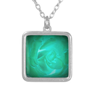 pictures of turquoise roses, imitation glow silver plated necklace