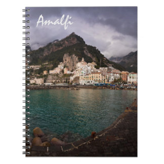 Picturesque Amalfi Coast, Italy Seaside Town Spiral Notebooks