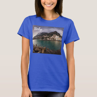 Picturesque Amalfi Coast, Italy Seaside Town T-Shirt