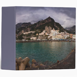 Picturesque Amalfi Coast, Italy Seaside Town Vinyl Binders