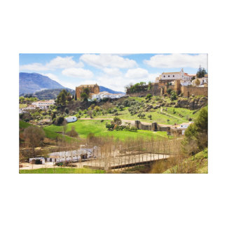 Picturesque Andalusia Landscape in Spain Gallery Wrap Canvas