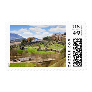 Picturesque Andalusia Landscape in Spain Postage Stamp