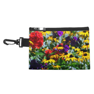 Picturesque Colorful Flowers Accessory Bag