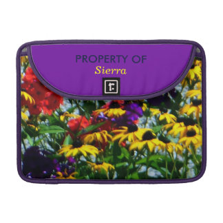 Picturesque Colorful Flowers MacBook Pro Sleeves