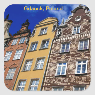 Picturesque Gdansk, Poland Square Sticker