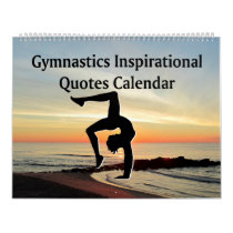 PICTURESQUE GYMNASTICS QUOTE CALENDAR