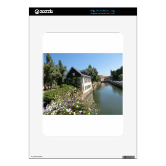 Picturesque house with flowers and canals, France iPad Decals