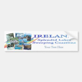 PICTURESQUE IRELAND COLLAGE - Eight Scenic Designs Car Bumper Sticker