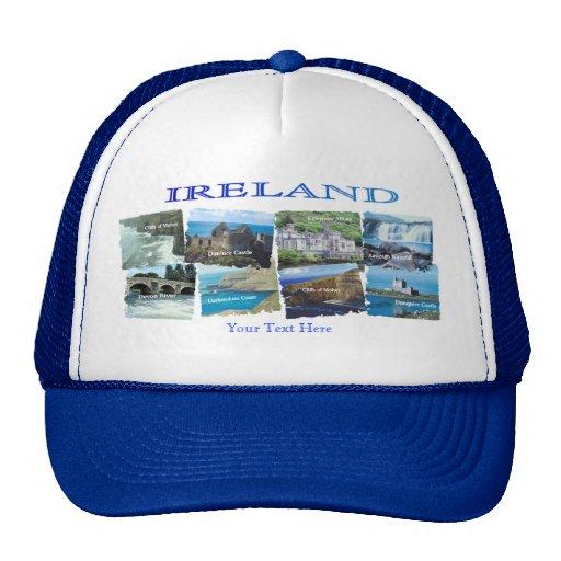 PICTURESQUE IRELAND COLLAGE - Eight Scenic Designs Hat