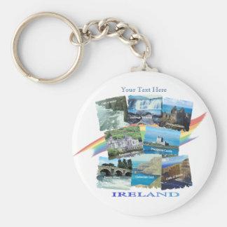 PICTURESQUE IRELAND COLLAGE - Eight Scenic Designs Keychain