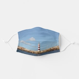 Picturesque Lighthouse in the Caribbean Cloth Face Mask
