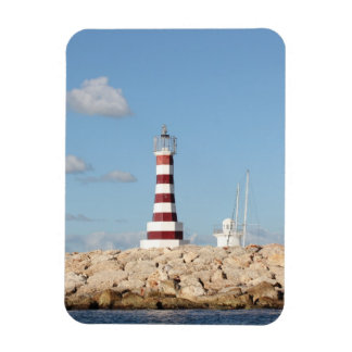 Picturesque Lighthouse in the Caribbean Magnet
