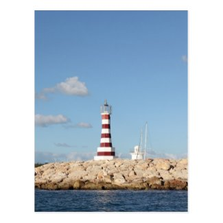 Picturesque Lighthouse in the Caribbean Postcard