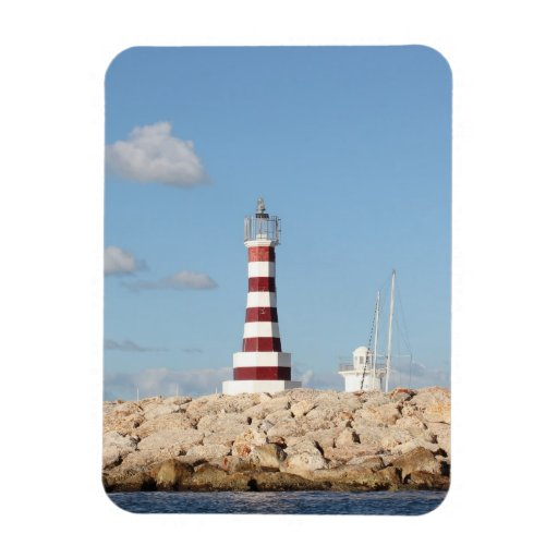 Picturesque Lighthouse In The Caribbean Vinyl Magnets Zazzle