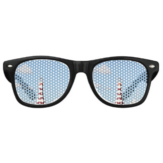 Picturesque Lighthouse in the Caribbean Retro Sunglasses