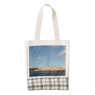 Picturesque Lighthouse in the Caribbean Zazzle HEART Tote Bag