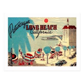 Picturesque Long Beach, California Vintage Postcard
