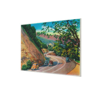Picturesque Los Gatos Highway near Santa Cruz Canvas Print