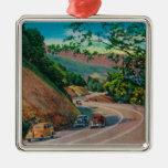 Picturesque Los Gatos Highway near Santa Cruz Metal Ornament