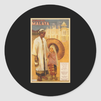Picturesque Malaya Classic Round Sticker