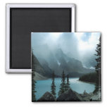 Picturesque Moraine Lake from Banff National Park. 2 Inch Square Magnet