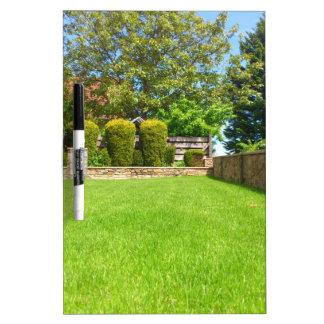 Picturesque Summer Garden Dry-Erase Board